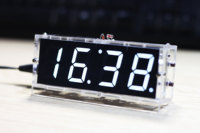 White LED Electronic Clock Microcontroller Digital Clock Time Thermometer DIY Kit With PDF Tutorial