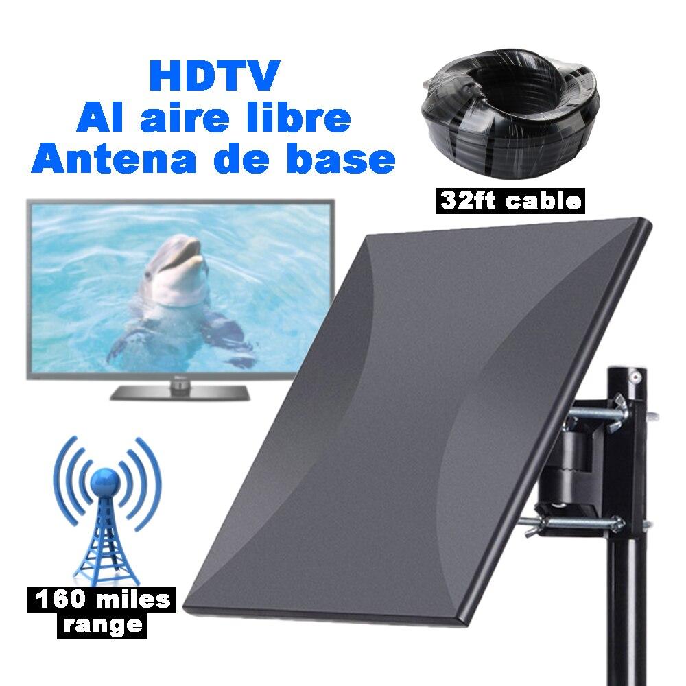SatXtrem 318A Numérique HDTV En Plein Air Intérieur Base Antenne DVB T 260 km 160 Miles Signal Amplificateur Aérienne Avec 32.8ft Câble livraison