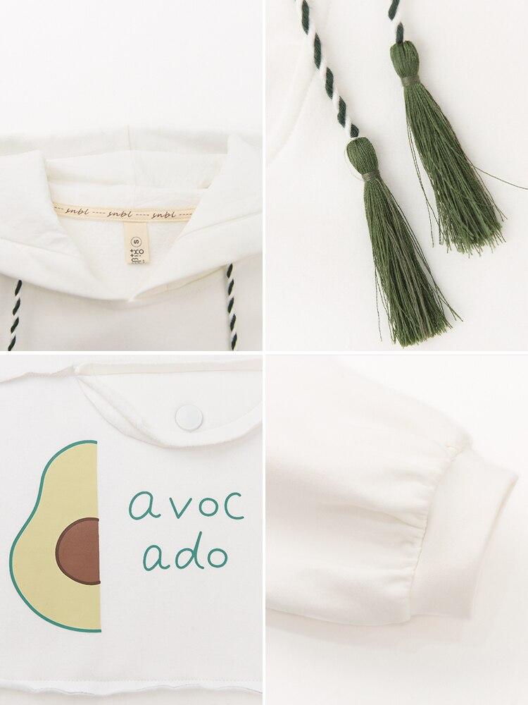 À Capuchon Femmes Blanc White Coton Chandail Rétro Avocat Fille Robe w0Anqgg8f