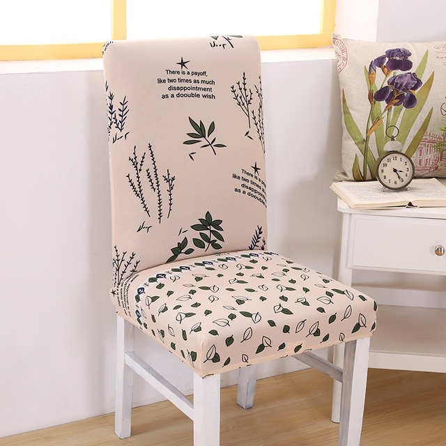Dining Chair Slipcover Lazy Boy Office Anti Dirty Covers Spandex Floral Print Elastic For Wedding Protector Home Decor Mother Gifts