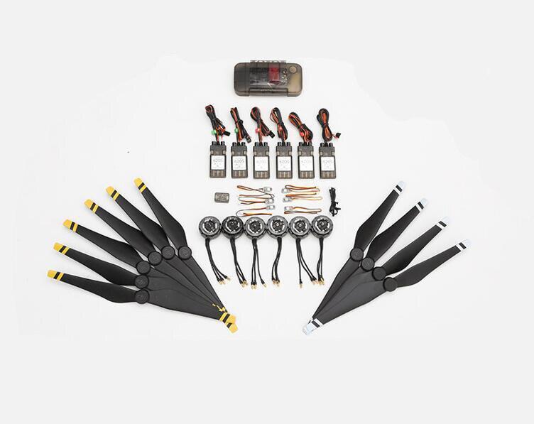 ФОТО 100% original dji e800 3510 kv350 motor +20a esc +1345 propeller + screw box kit set