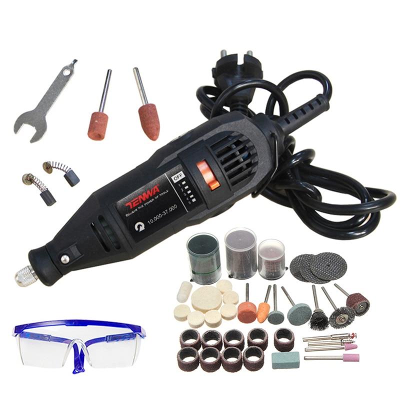 TENWA 180 watt Mini Bohrer Elektrische Stecher Grinder Variable Geschwindigkeit Elektrische Dreh Werkzeug Set Grinder 110 stücke Dremel Zubehör DIY