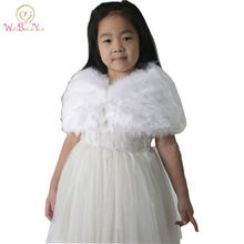 Child faux fur wrap Pearl shrug White Flower girl Shawl 3-9 years old Wraps Winter wedding shrugs Bolero Coat faux fur cover up faux pearl