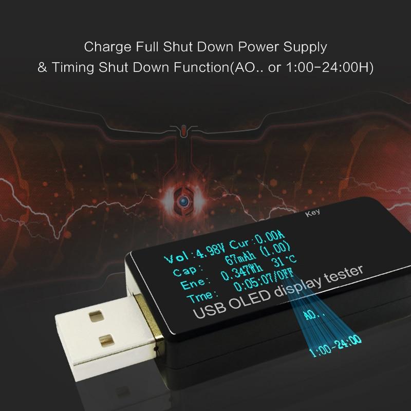 OLED 128x64 USB testerio nuolatinės srovės voltmetro srovės - Matavimo prietaisai - Nuotrauka 3