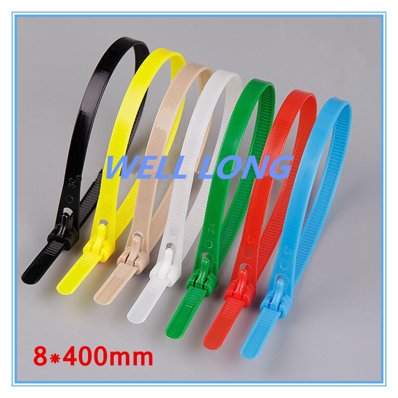500pcs lot 8 400mm Blue Color Nylon Cable Ties Cable Ties Cable Ties Reusable