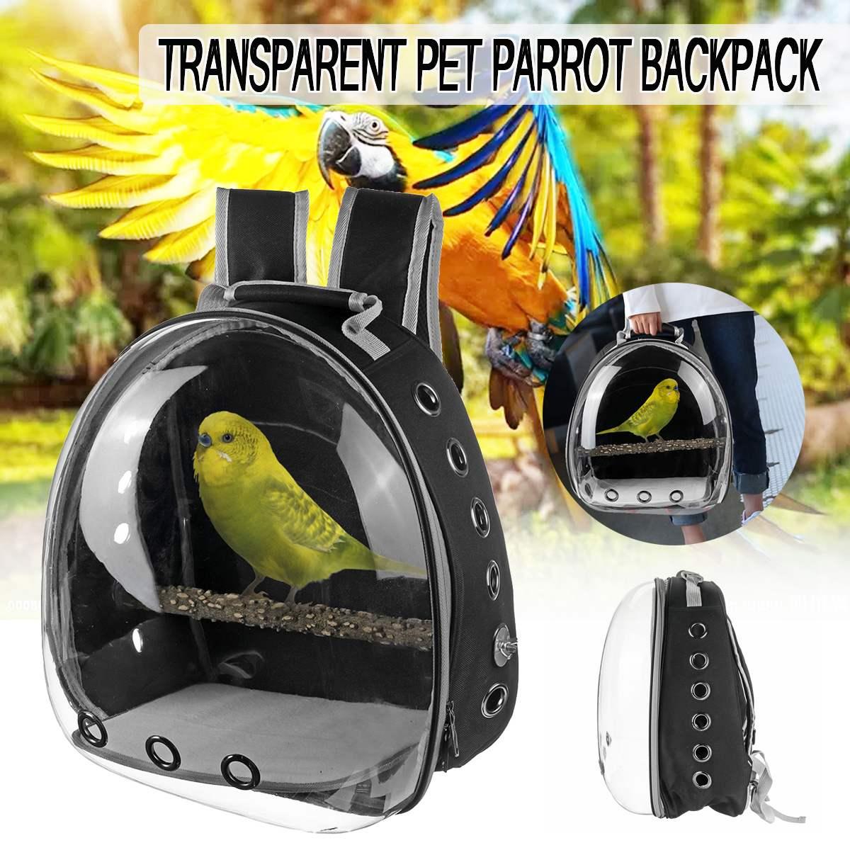 Cages à oiseaux nid maison Transparent sac à dos pour animaux de compagnie perroquet transporteur Cage oiseau voyage sac en bois Stand maison accessoires pour animaux de compagnie décoration