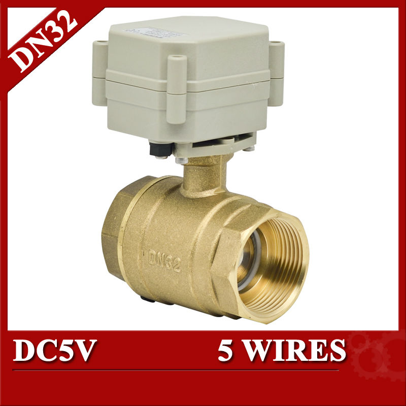 ФОТО 1 1/4'' motor operation valve DC5V T32-B2-A 5 wires for heating HVAC air conditional fan coil water treatment