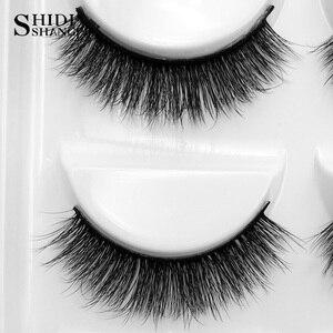 Image 5 - SHIDISHANGPIN 50 pairs natural long false eyelashes fluffy 3d mink lashes make up 100% cruelty free fake eyelash faux cils G803
