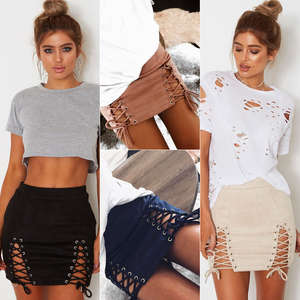Thefound Women High Waist Suede Pencil Sexy Mini Skirt