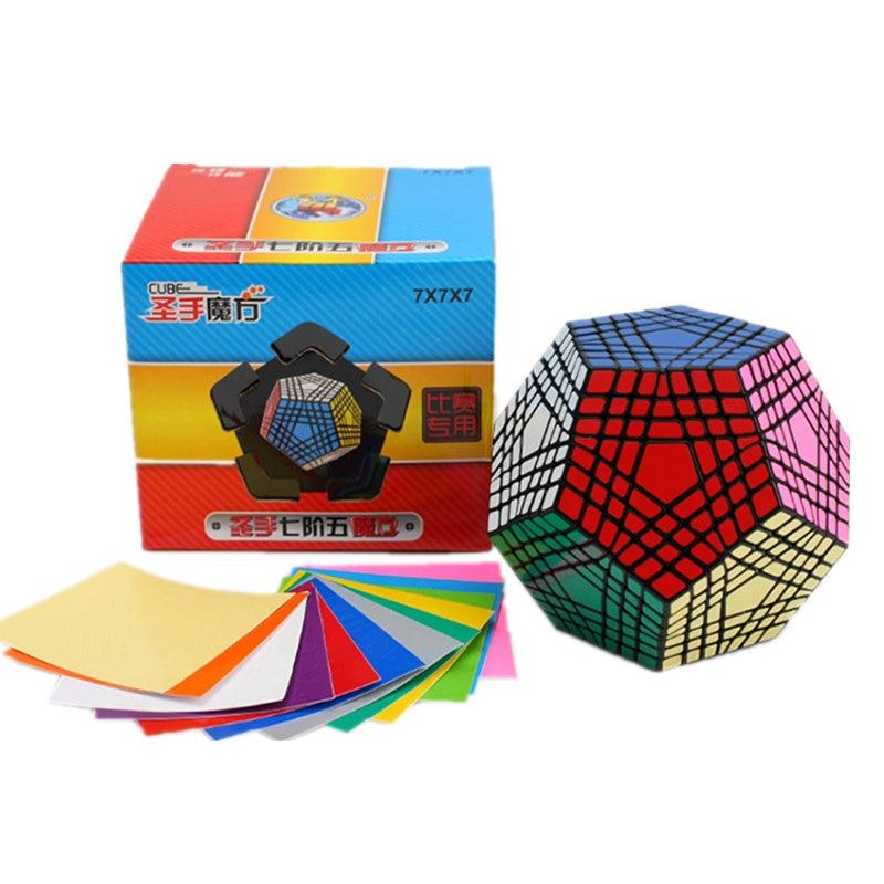 7x7 Megaminx 7x7x7 Magic Cube Teraminx 7x7 профессиональный куб додекаэдра Twist Puzzle образовательные игрушки - 6