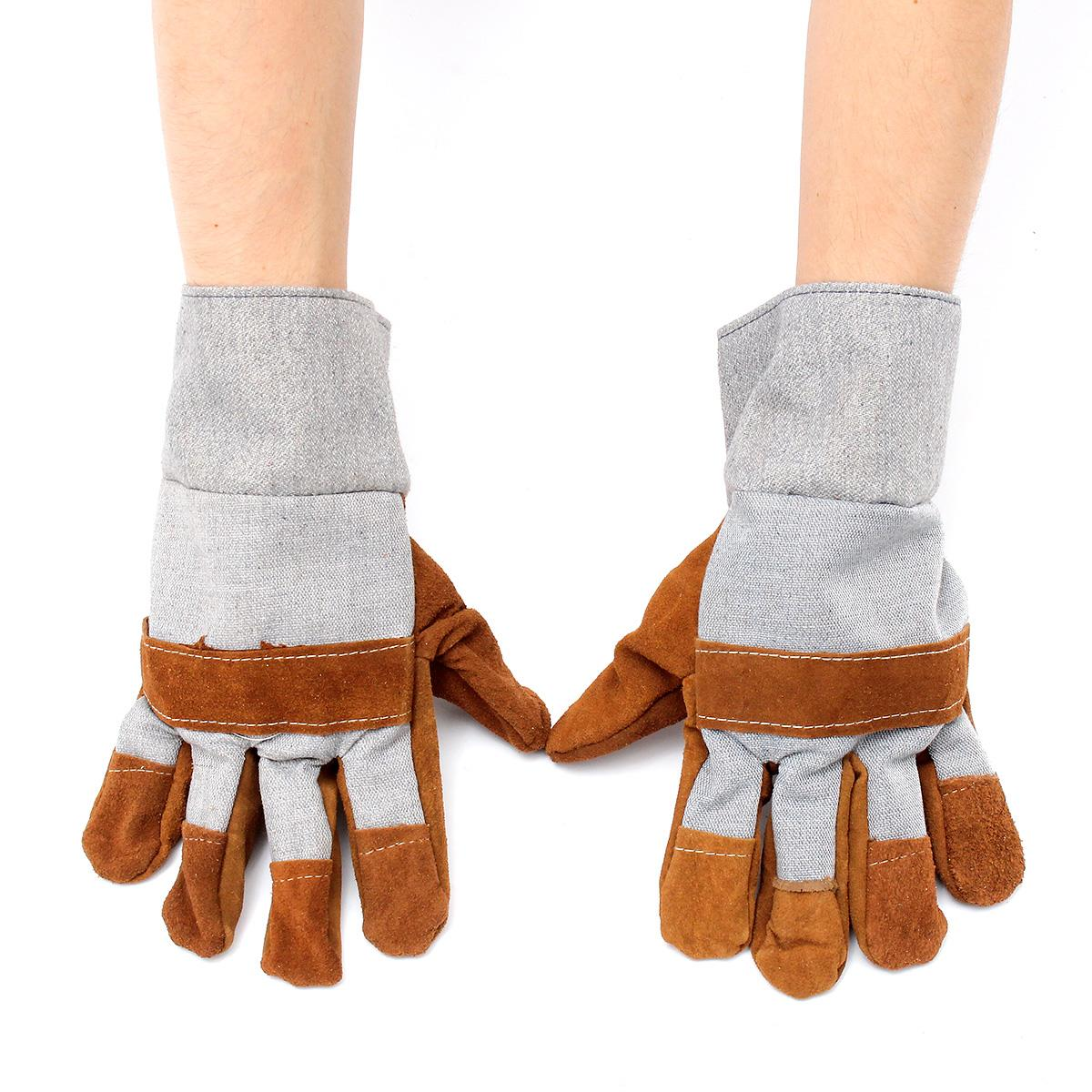 NEW Welding WELDERS Work Soft Cowhide Leather Plus Gloves For protecting hand Safety gloves welding welders work soft cowhide
