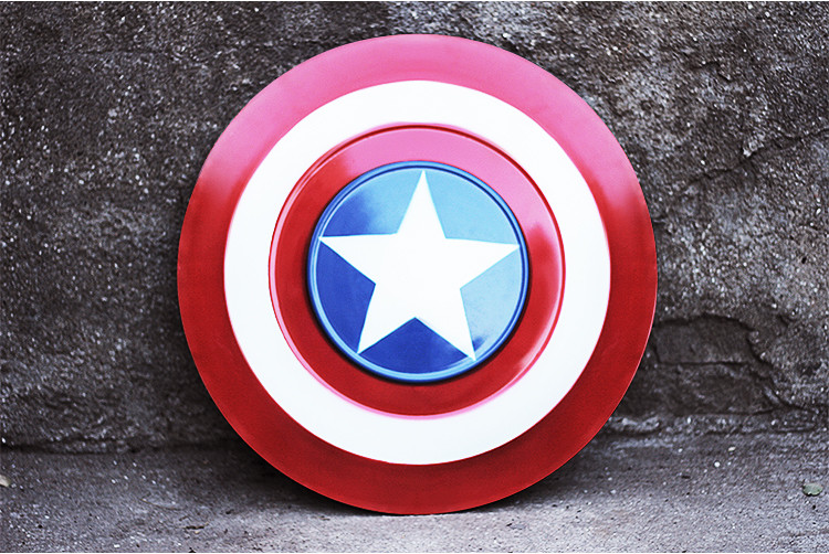 [Funny] Metal Made 60*60cm The Avengers Civil War Captain America Shield 1:1 Cosplay Steve Rogers model adult costume party toy new marvel the avengers age of ultron captain america cosplay costume steve rogers outfits adult superhero costume