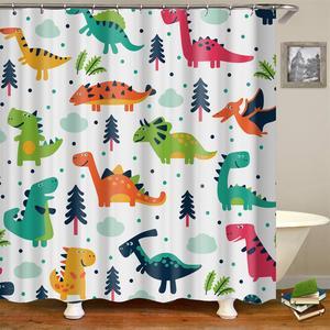 Image 5 - Дети Cartooon Ванная комната Душ шторы модный дизайн сова кактус якорь штора для ванной шторка для ванной