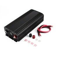 Чистая синусоида преобразователь 1500 Вт DC 12 В к AC 110 В Мощность инвертор Зарядное устройство конвертер прочный автомобиль Питание переключат