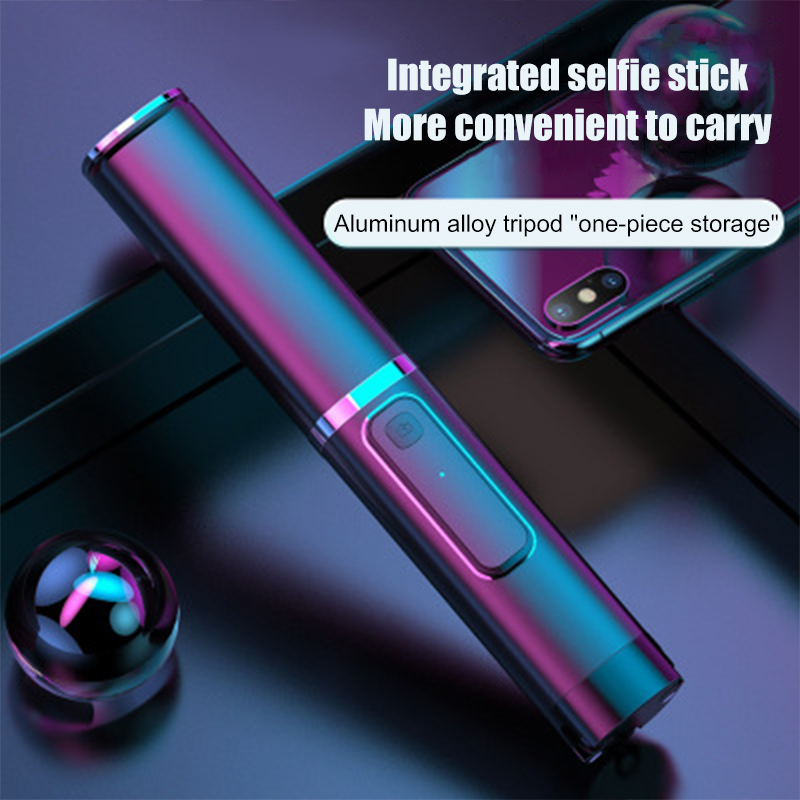 Portable Selfie Stick Tripod Bluetooth Rechargeable Remote Hidden Multi-function Universal Phone Bracket Wireless Selfie Stick