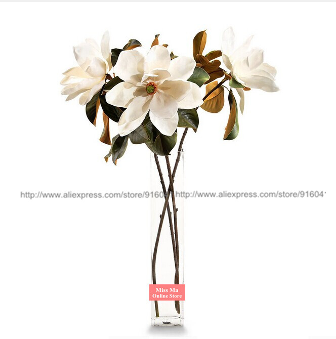 Big size 3pcs white 28 silk magnolia orchid table decorative big size 3pcs white 28 silk magnolia orchid table decorative artficial craft flower wedding party fake flower free shipping in artificial dried flowers mightylinksfo Choice Image