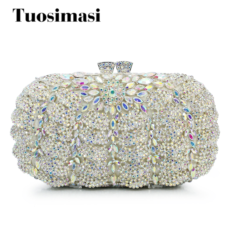 Women Evening Bags Ladies Unique Shape Crystal Party Clutches Bag Female Wedding Diamonds Purses Wedding Purse Dress (8792A-SW) 2017 new fashion women evening bag ladies luxury diamonds dress handbag female day clutches messenger bags handbags purses