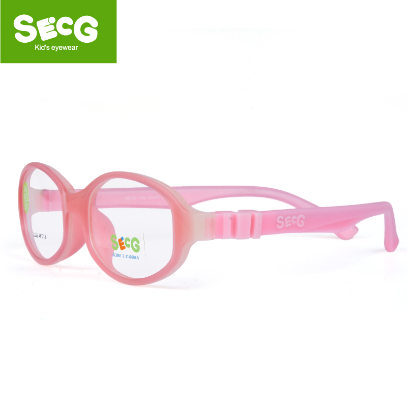 SECG Cute Solid Detachable Optical Children Glasses Frame Silicone Flexible Soft Transparent Kids Glasses Eyeglasses Spectacles