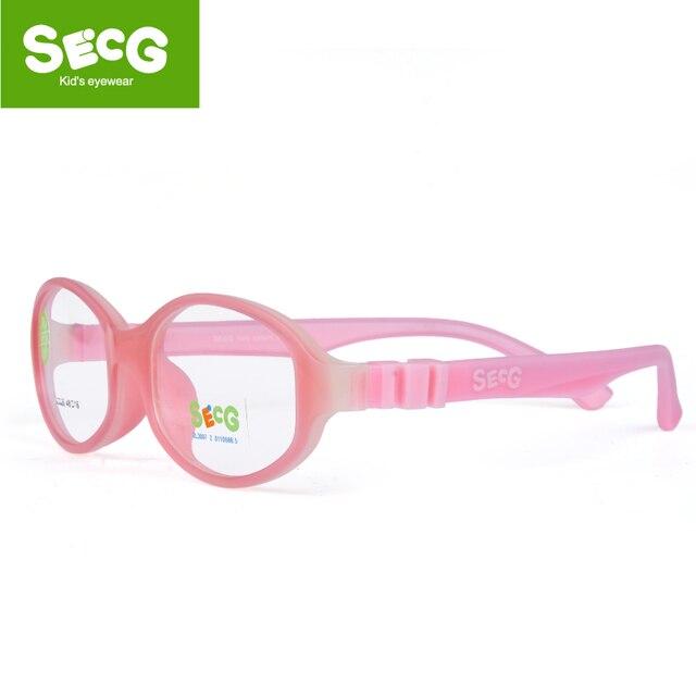 SECG Sólida Bonito Destacável Crianças Ópticos Óculos de Armação Crianças Óculos Óculos Óculos de Silicone Macio E Flexível Transparente