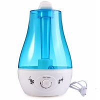 Double Spray Air Humidifier 3L Aroma Essential Oil Diffuser Ultrasonic Air Humidifier With Wood Grain LED