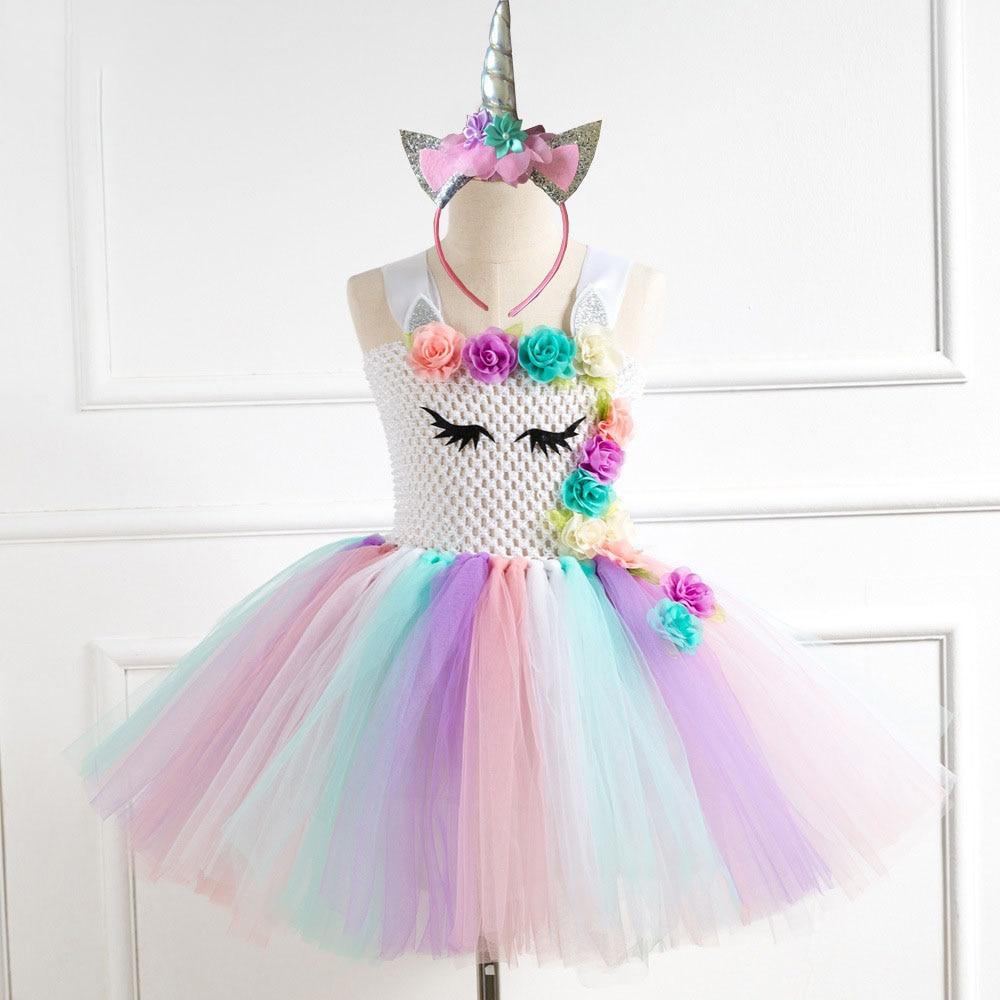 Vestido De Festa Para Crianca Festa Toddler Girl Holiday Dresses Unicorn Birthday Dress Carnival Costumes for Girls lovaru новые 2015 vestido de festa ретро цветочницу платья элегантность элитных слим винтаж женщин летнее платье vestidos