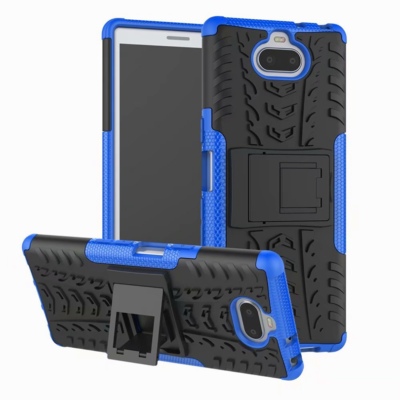 For <font><b>Sony</b></font> Xperia 10 / <font><b>Xperia10</b></font> <font><b>Case</b></font> Heavy Duty Armor Slim Hard Tough Rubber Cover Silicon Phone <font><b>Cases</b></font> For <font><b>Sony</b></font> <font><b>Xperia10</b></font> <font><b>Case</b></font> image