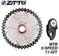 ZTTO MTB велосипед Freewheel 9 скоростей 11-42 т кассеты Freewheel горный велосипед части широкого соотношения совместимы с M430 M4000