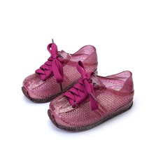 Melissa Shoes Boys and Girls Sports Sandals with Laces 2019 New Toddler Princess
