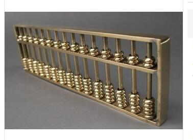 collecting OLD copper decoration bronze Brass Collectible Chinese Tibetan Brass carved Abacus font b Calculator b