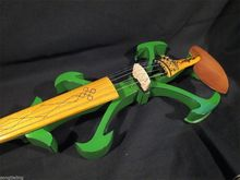 Handmade New Top Model Art 5 Strings Green 4/4 Electric Violin/Violino Streamline Case Rosin Bow Included String Instrument