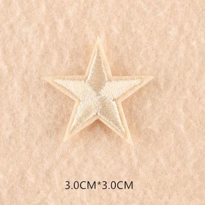 1 шт. смешанные нашивки со звездами для одежды, железная вышитая аппликация, милая нашивка эмблема на ткани, одежда, аксессуары для одежды DIY 61 - Цвет: 61M
