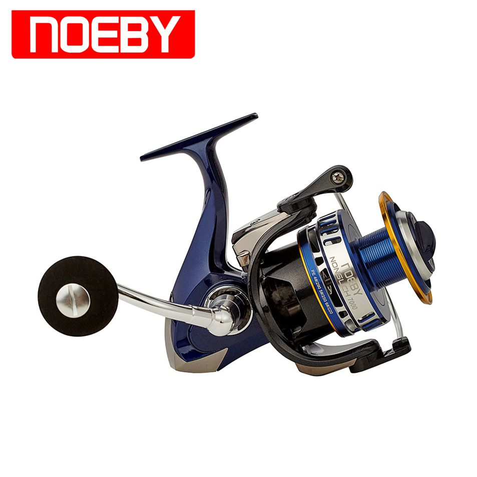 цена на NOEBY Spinning Reel Wheel NONSUCH 6000/7000 Series 10+1BB 4.9:1 Full Metal Moulinet Spinning Carrete De Pesca Fishing Coil Peche