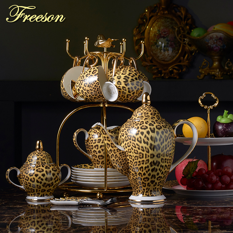 Luxury leopard mug set 1