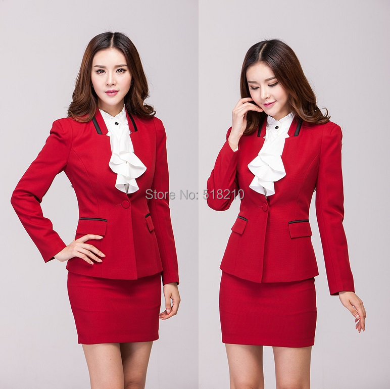 High Quality Red Skirt Suit-Buy Cheap Red Skirt Suit lots from