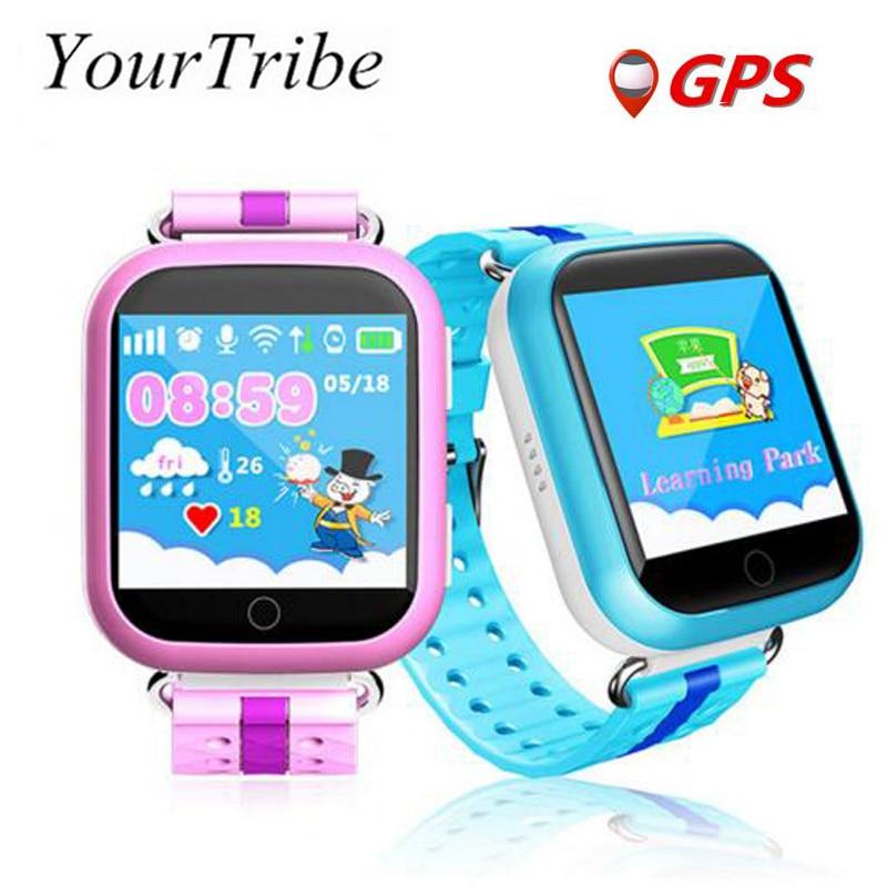 imágenes para Gps smart watch q750 q100 baby watch con wifi 1.54 pulgadas táctil Dispositivo de Localización de Llamadas pantalla SOS Perseguidor de Seguros para Niños PKQ50 Q60 Q90