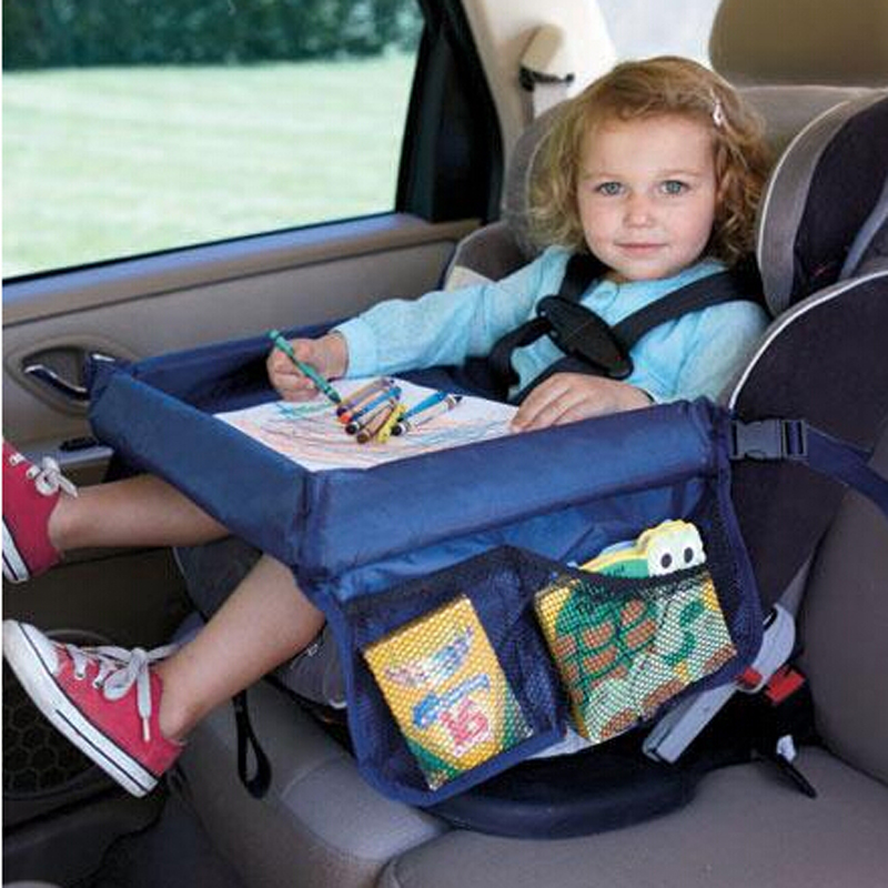 waterproof table car seat tray storage kids toys infant stroller holder for children 4 colors wholesale