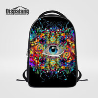 Dispalang Personality Design Eye Expression Men Backpack For 14 Inch Laptop Mochila Masculina Middle School Students Backpacking