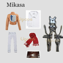 Attack on Titan Cosplay Shingeki no Kyojin Mikasa Ackerman Cosplay Costume Women Halloween Costumes Full Set