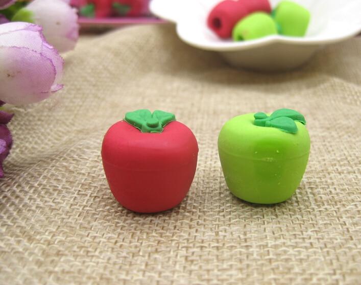Apple  Eraser Sets  Fruit Eraser Sets  Magic Eraser  With Random Colors 30 Pieces Per Lot