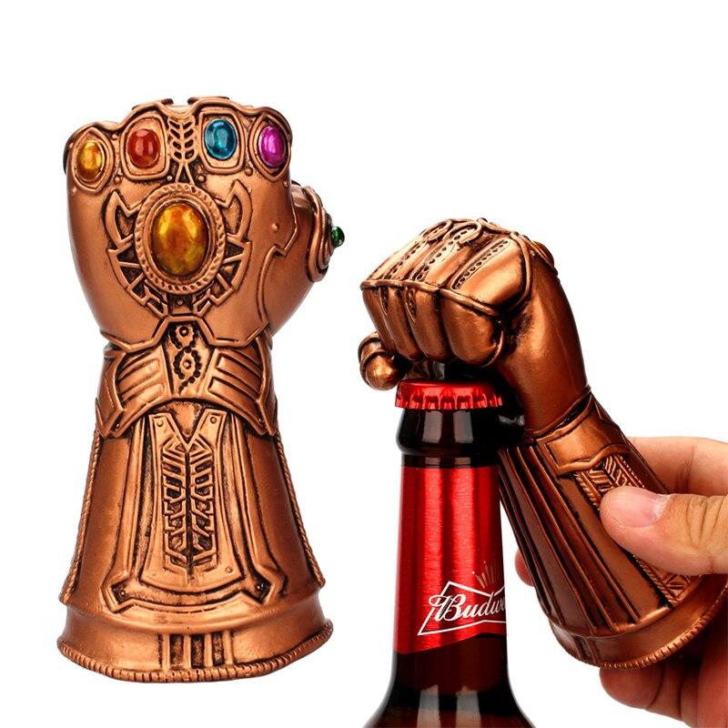 Creative Beer Bottle Opener Infinity Thanos Gauntlet Glove Soda Glass Caps Remover Long Handle Hammer Of Thor Shaped Beer Opener