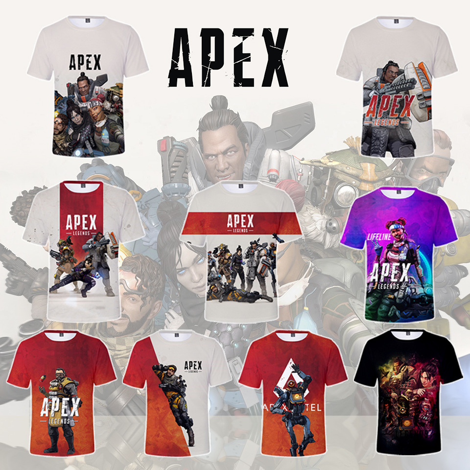 Apex Legends Kids T-shirt Short Sleeves Tee Shirt Tops for Children