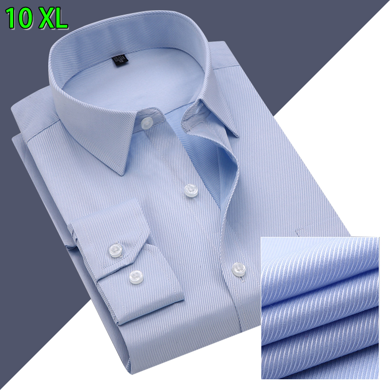 10XL koszule męskie z długim rękawem Casual wiosna bawełna