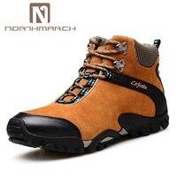 Northmarch обувь Для мужчин осень зима модные Мужская обувь из натуральной кожи на шнуровке удобные короткие плюшевые ботинки Для мужчин Повсед