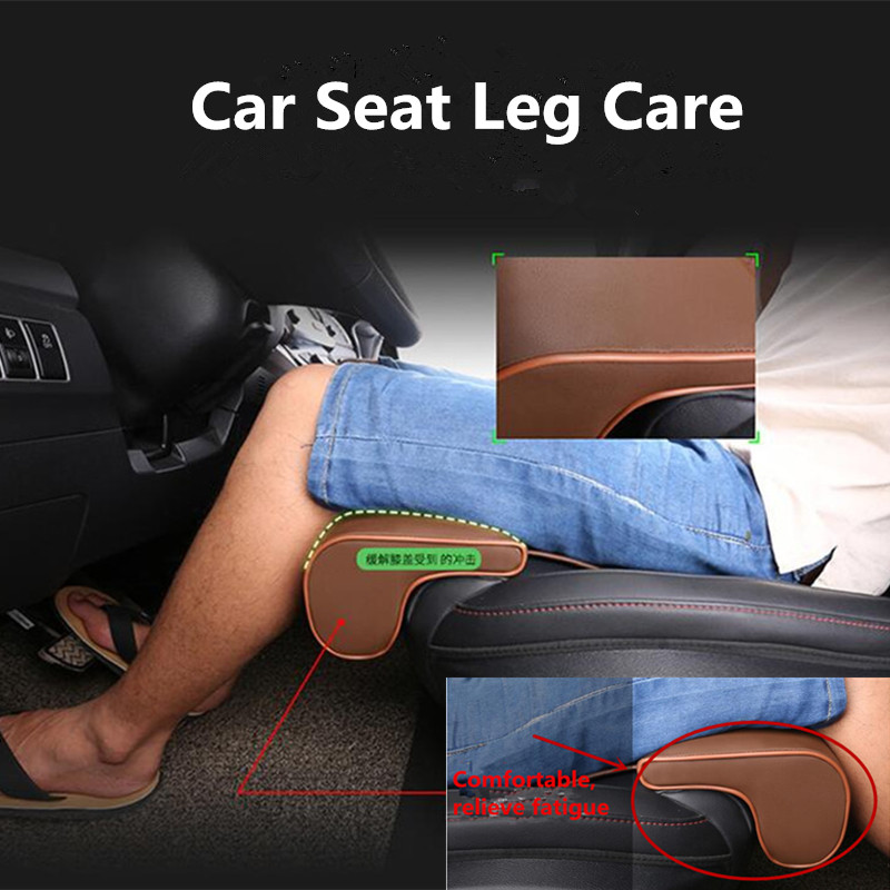 Universal Car Seat Leg Care Car Seat Cushion Foot Leg Longer Leather Knee Pad Thigh Support