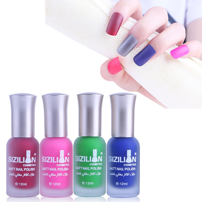 40 Colors 12ml Matte Dull Nail Polish Fast Dry Long-lasting Nail Art Varnish Lacquer Matte Nail Polish Satin Gel varnish
