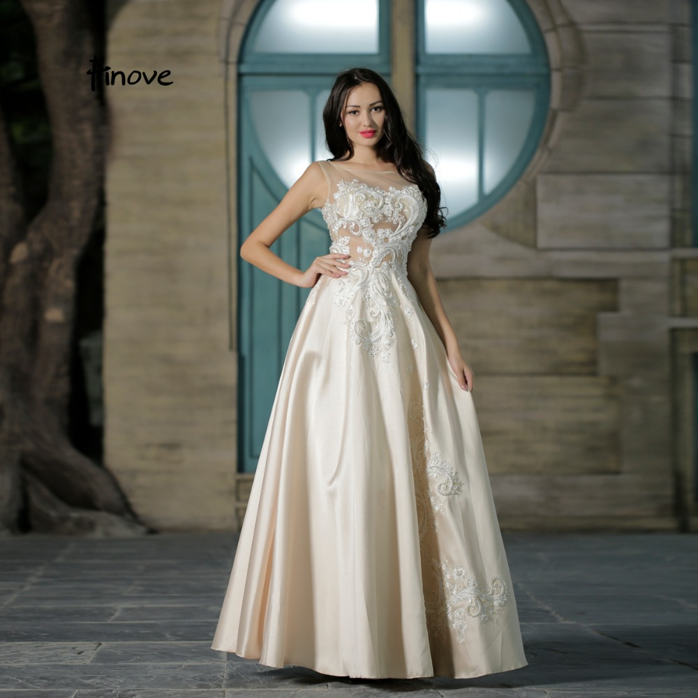 Finove Fairy White Prom Dress 2020 New Design Simple See Through
