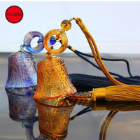 1 pc Glass Bell Car Interior Rearview Mirror Hanging Hanger Decoration Decor Ornament Accessories for Car Home Office
