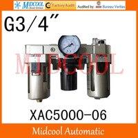 Hoge kwaliteit XAC5000-06 serie luchtfilter combinatie frl 4-poorts g3/4