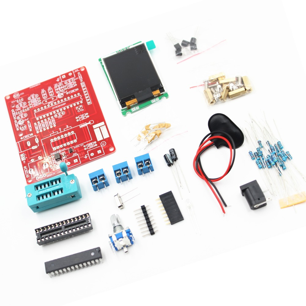 2016 DIY KITS ATMEAG328P M328 Transistor Tester LCR Diode Capacitance ESR meter PWM Square wave Signal Generator with case Pakistan