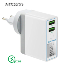 AIXXCO מהיר תשלום 3.0 36W USB מטען עבור iPhone X 8 מהיר QC 3.0 מטען עבור סמסונג גלקסי s9 s10 Xiaomi mi 8 9 USB מטען